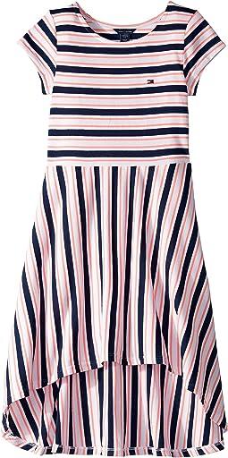 Stripe High-Low Dress (Big Kids)