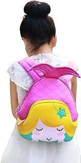 Nohoo Kids Mermaid Backpack 3D Cute Sea Cartoon School Girls Twins Bags