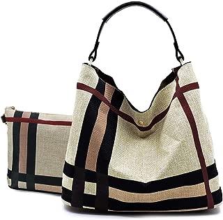 Handbag Republic Classic Plaid Hobo Bag w/Pull-out Pouch/Crossbody
