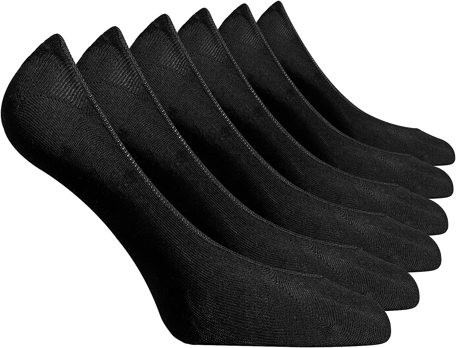 KINDFEEL Women's No Show Liner Socks Invisible Non-Slip 6 pairs