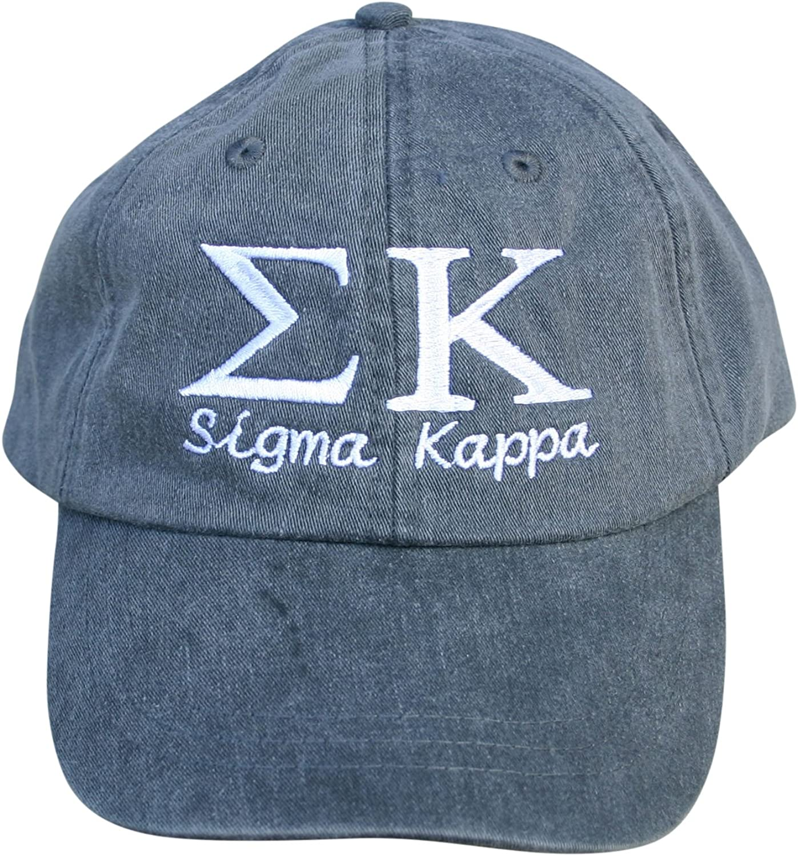 Mega_Greek Womens Sigma Kappa Script Baseball Cap