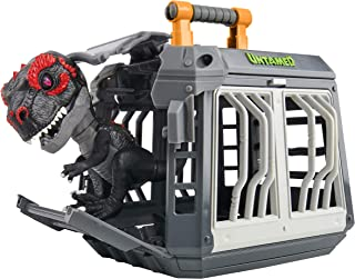 Untamed Jailbreak T-Rex Playset by Fingerlings - Infrared (Black & Red) - Interactive Collectible Dinosaur - by WowWee