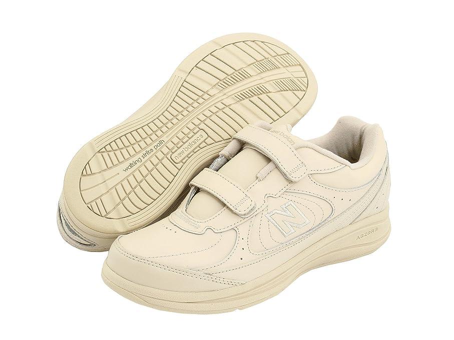 ためらう鼻チケットレディースウォーキングシューズ?靴 WW577 Hook and Loop Bone 6.5 (23.5cm) B - Medium [並行輸入品]