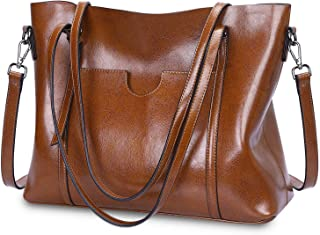 Large Tote Bags For Women Work Shoulder Handbags Faux Leather Travel Laptop Purse Black Brown