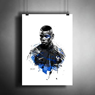 Paul Pogba Manchester United France FC Soccer Football Art Poster Photo Print Decor (A3 size (297×420 mm (11,7×16,5 inches))