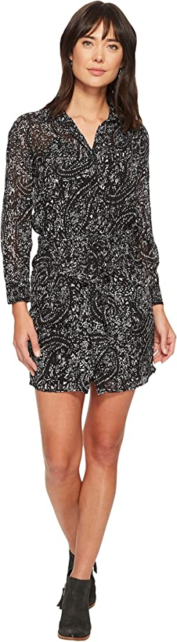 Lucky Brand Printed Tie Front Dress