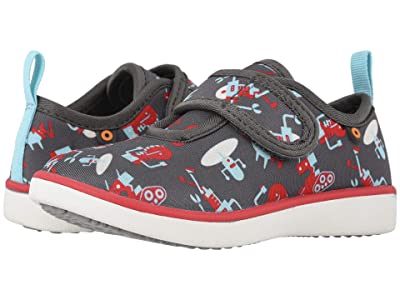 Bogs Kids Kicker Strap Robots (Toddler/Little Kid) (Gray Multi) Boys Shoes