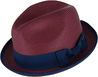 9ad193cb Epoch Hats Company Men's Fedora with Contrast Band and Trim