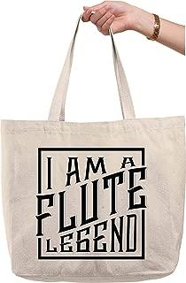 I am a flute legend caps classic band instrument ensemble music Natural Canvas Tote Bag funny gift