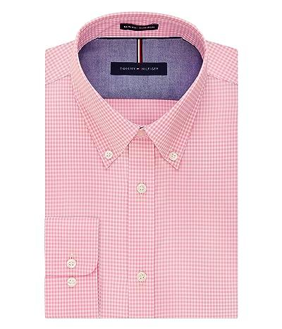 Tommy Hilfiger Dress Shirt Slim Fit Non Iron Gingham