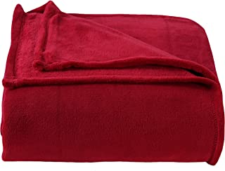Berkshire Blanket Plush Serasoft Polartec Warmth Technology Bed Blanket, King, Burnt Red