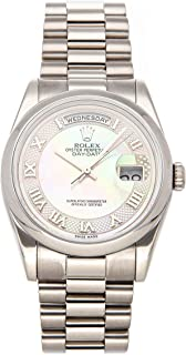 Day-Date Mechanical (Automatic) Mother-of-Pearl Dial Mens Watch 118209 (Certified Pre-Owned)