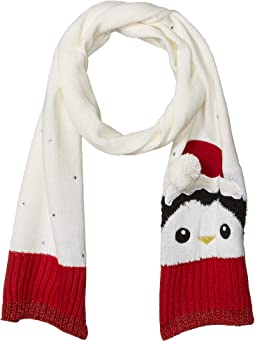 Penguin with Santa Hat Scarf