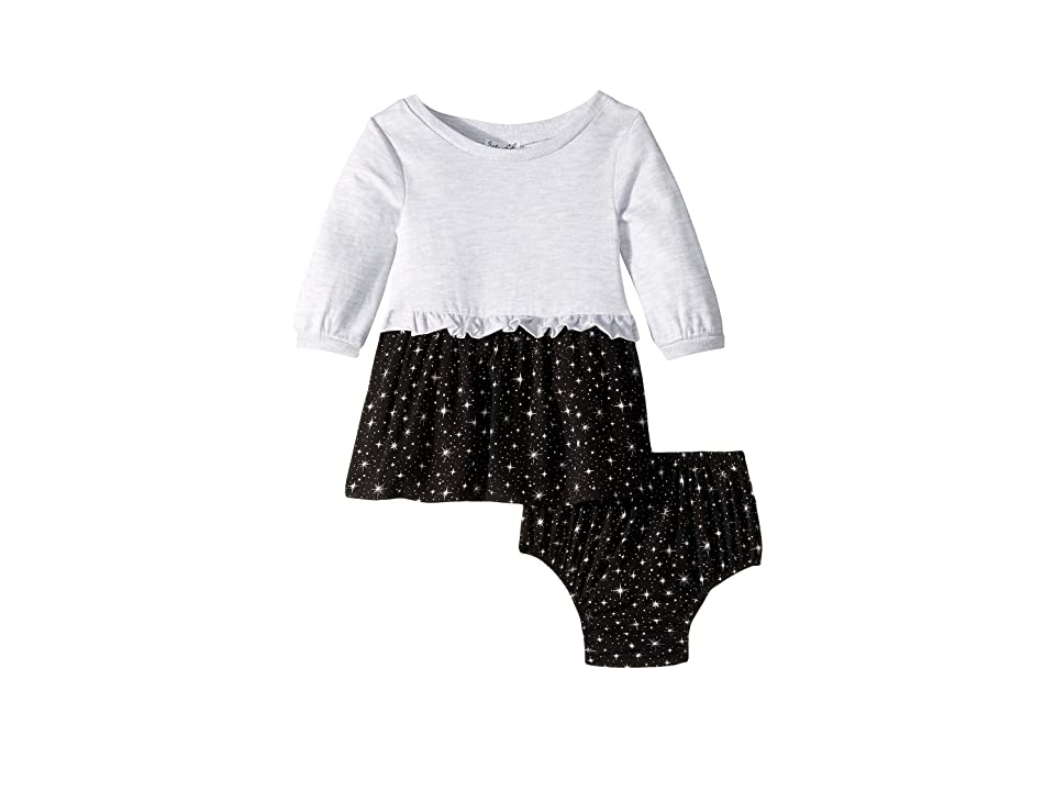 Splendid Littles Star Print Dress (Infant) (Ice Grey Heather) Girl