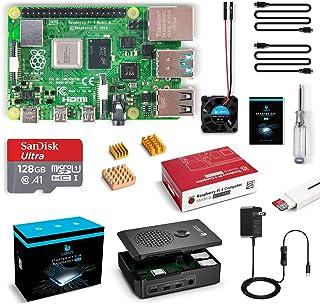 LABISTS Raspberry Pi 4 8GB(技適マーク入)MicroSDHCカード128G/NOOBSシステムプリインストール/カードリーダ /5.1V/3A Type-C スイッチ付電源/MicroHDMI-to-HDMIケーブルライン/三つヒートシンク/簡単に取り付けケース/日本語取扱説明書/24ヶ月保証