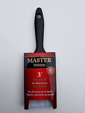 "Master Finish 3"" Premium Polyester Paint Brush for House Wall & Siding Latex & Oil Base Paints"