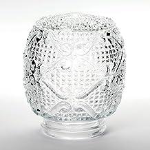Vervangend glas lampenkap helder glas structuur Ø135mm / 84,5mm 60W