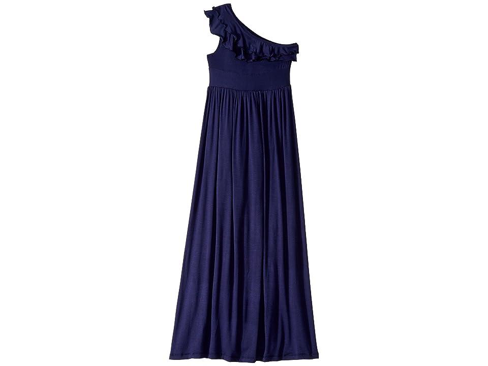 fiveloaves twofish Bedouin Maxi Dress (Little Kids/Big Kids) (Navy) Girl
