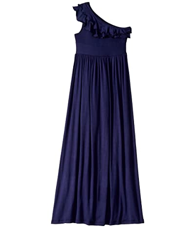 fiveloaves twofish Bedouin Maxi Dress (Little Kids/Big Kids) (Navy) Girl