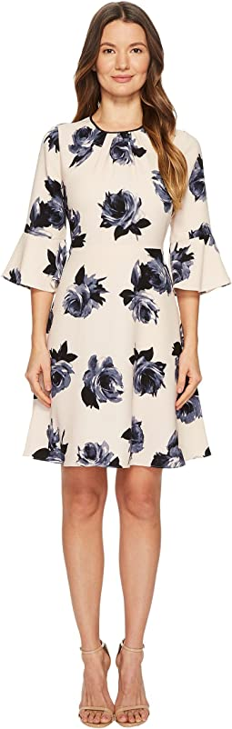 Kate Spade New York - Night Rose Crepe Dress