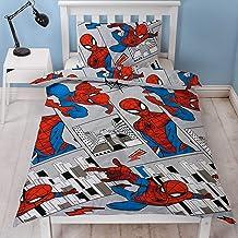 Spiderman Official Single Duvet Cover Design Grey City Landscape Design Reversible Two Sided Bedding Duvet Cover With Matc...