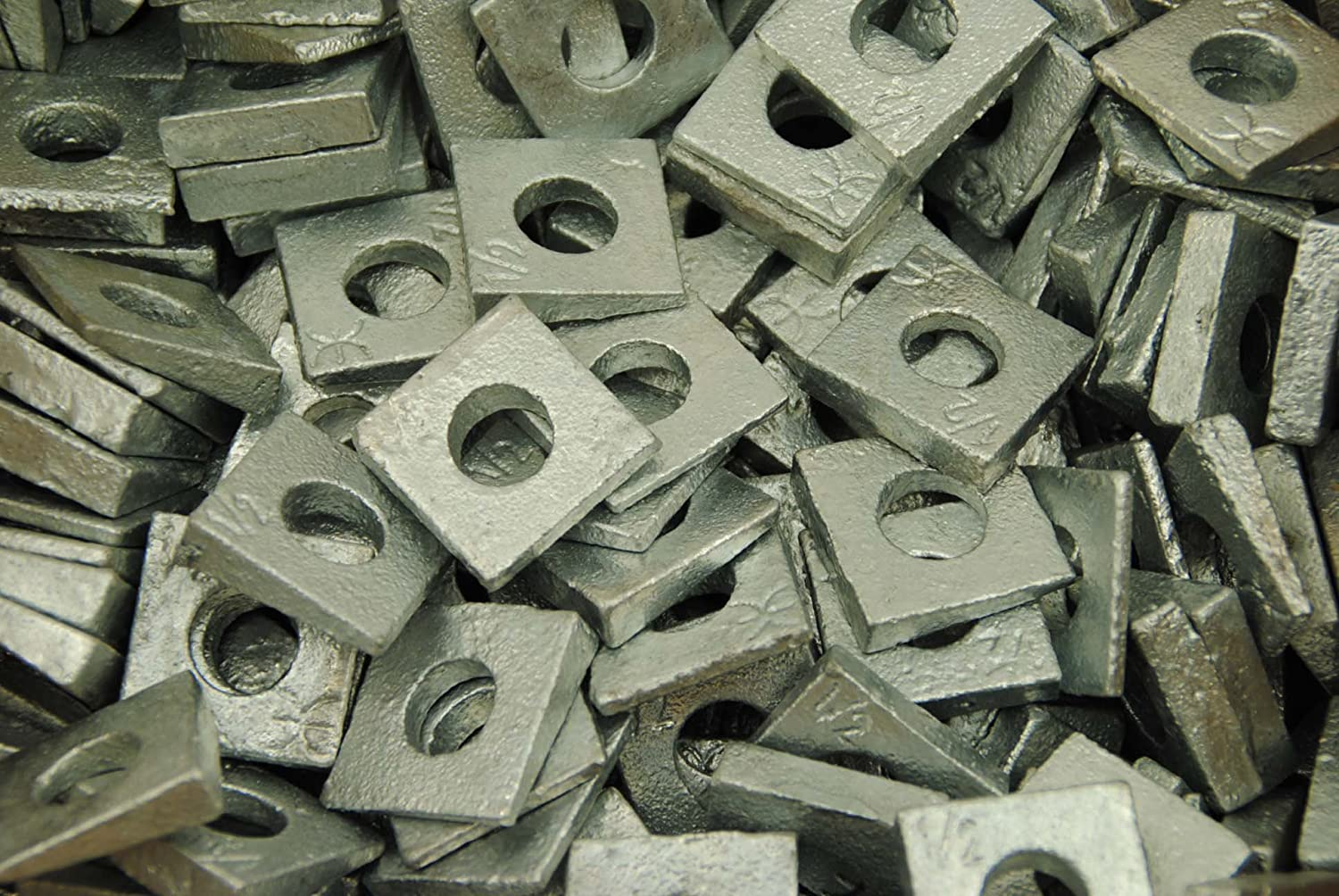 Quality inspection 100 Galvanized Malleable Regular dealer 1 2 I-Beam Washers Flang Square Bevel