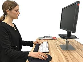 Ergoshopping Compact Adjustable Computer Monitor Desktop Raiser Stand I Stepless Height Laptop Imac Desk Organizer