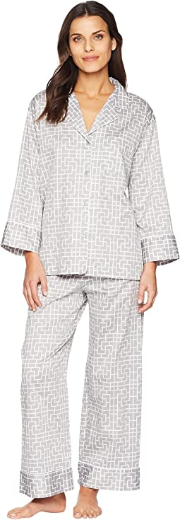 Natori Abstract Maze Long PJ Set