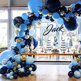Pateeha Royal Blue Balloons 125 Pack 18 In 12 In 5 In, Blue Balloon Garland Arch kit Confetti Balloons for Baby Shower, We...