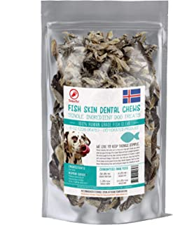 TickledPet Icelandic Cod Fish Skin Dog Treats - Wild Caught Single Ingredient Human Grade Grain Free Chews