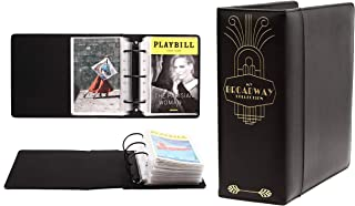 Broadway Play Program and Theater Playbill Binder with 30 Custom Sheet Protectors - PU Leather - Fits Playbills from Mid 1...