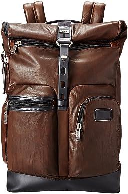 Alpha Bravo - Luke Leather Roll-Top Backpack