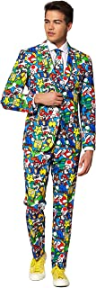 OppoSuits Crazy Prom Suits for Men – Super Mario – Comes with Jacket, Pants And Tie in Funny Designs Abito da Uomo