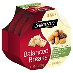 Sargento Balanced BreaksPepper Jack Natural Cheese with Honey Roasted Peanuts and Raisins, 1.5 oz,