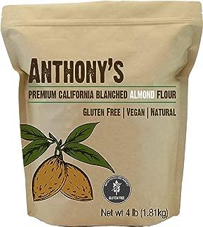 Anthony's Blanched Gluten Free Almond Flour, 4lbs, Gluten Free & Non GMO, Keto Friendly