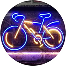 Bicycle Lover Shop Display Dual Color LED Neon Sign Blue & Yellow 300 x 210mm st6s32-i3171-by