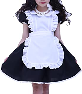 天使のドレス屋さん キッズ コスチューム 黒 アリス メイド エプロン ハロウィン 衣装 コスプレ ブラックアリス カチューシャ付き HT6703BK