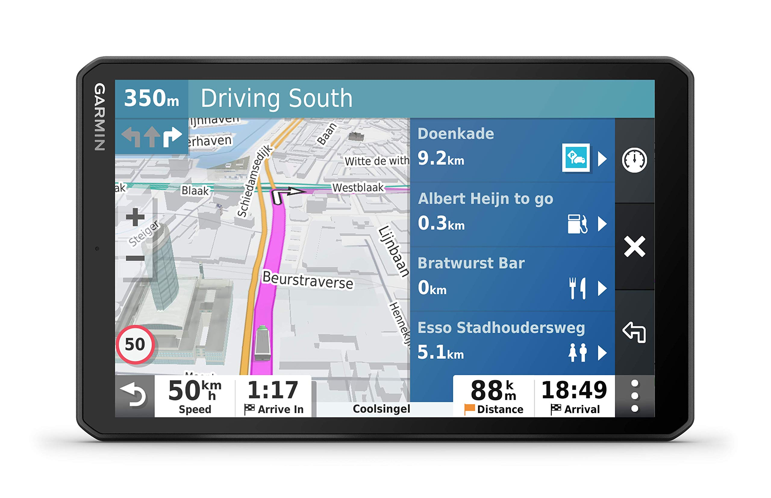 Garmin dēzl LGV 800 MT-S EU - Navegador GPS de 8 Pulgadas para camión (Mapas Europa), Negro: Amazon.es: Electrónica
