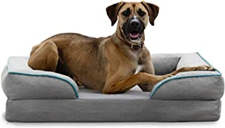 BrindleOrthopedic Memory FoamPet Bedwith Wrap Around Bolster- Plush Dog and Cat Bed-Removable VelvetCover
