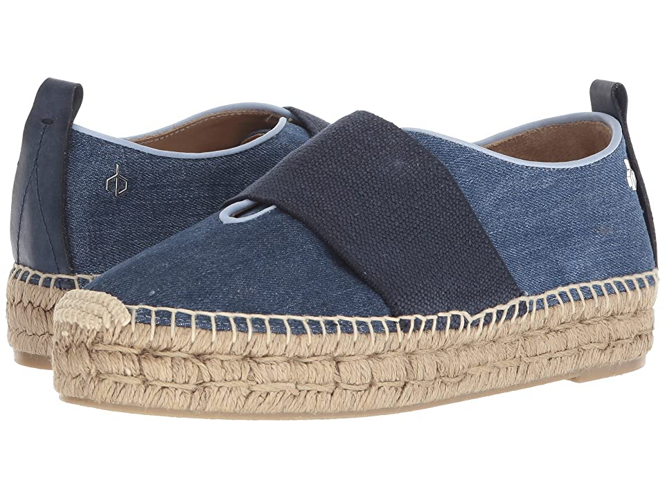 rag & bone Nina Espadrille (Blue Denim) Women