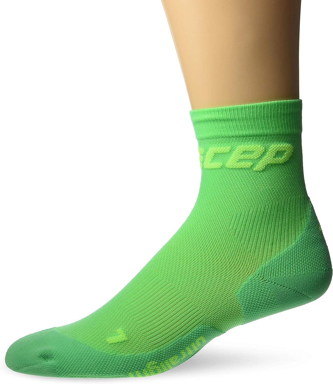 CEP Men's Crew Cut Performance Running Socks Ultralight (Viper/Green) III