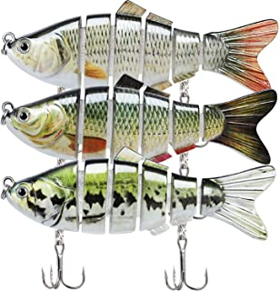 """TRUSCEND Fishing Lures for Bass 3.9"""" Multi Jointed Swimbaits Slow Sinking Hard Lure Fishing Tackle Kits Lifelike"""
