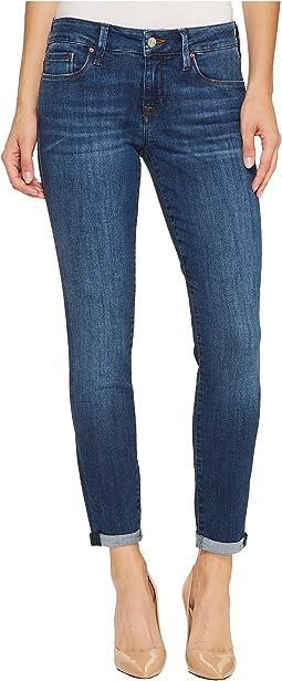 Mavi Jeans Alexa Mid-Rise Skinny Ankle in Dark Indigo Tribeca
