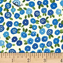 Windham Fabrics BFFs Blossoms Blue Fabric by The Yard,