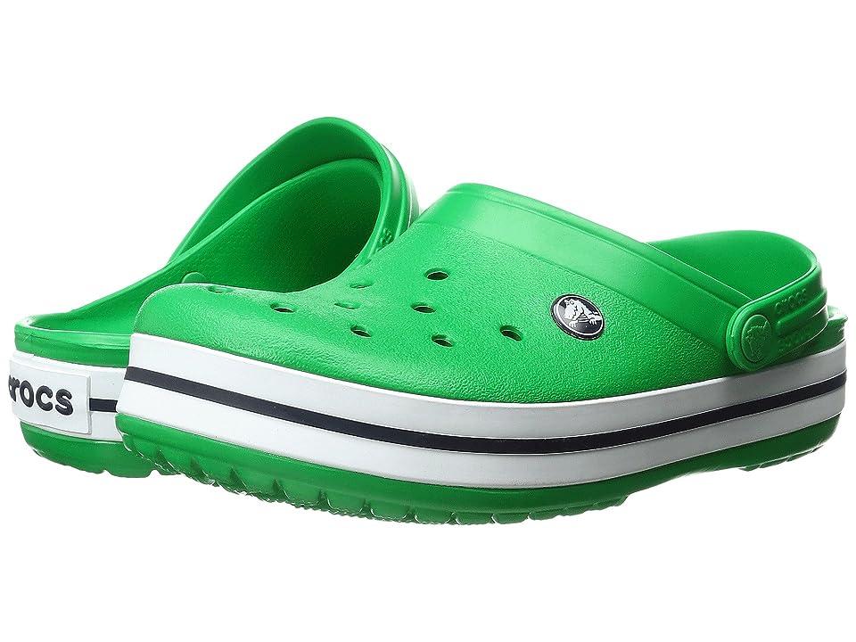 Crocs Crocband Clog (Grass Green/White) Clog Shoes