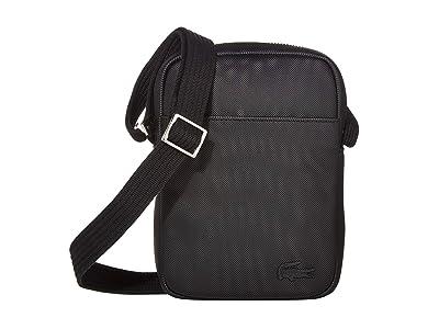 Lacoste Classic Slim Vertical Camera Bag (Black) Bags