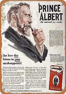DYTrade Vintage Look Metal Sign 12 x 16-1916 Prince Albert Crimp Cut Pipe and Cigarette Tobacco