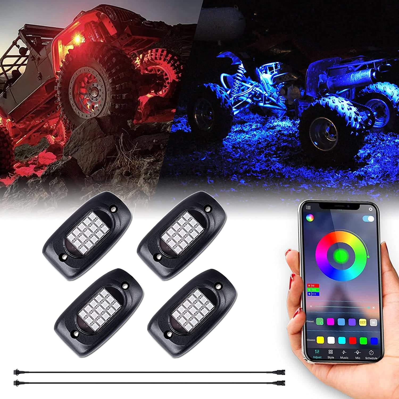 Morefulls LED Rock 2021new shipping free Lights Now on sale - Underg Light Exterior Multicolor RGB