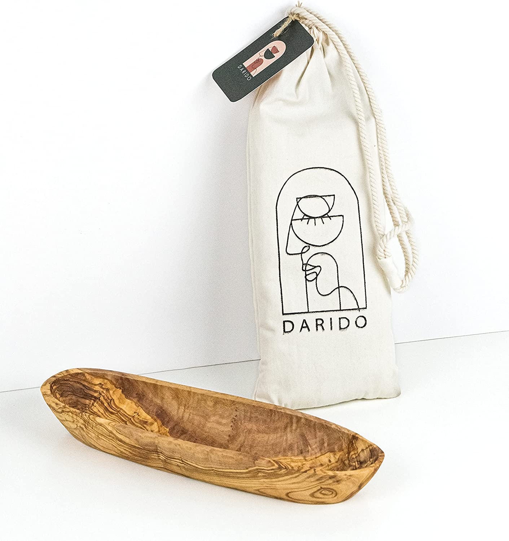 Cesta de pan de madera de olivo, cuenco de madera de olivo, cuenco de madera rústica, cuenco multiusos, cuenco de madera alargado, decoración de mesa de Navidad, cuenco hecho a mano