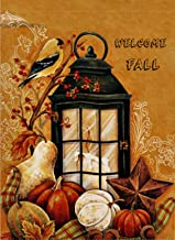 Dyrenson Home Decorative Outdoor Orioles Bird Garden Flag Double Sided, Welcome Fall Quote House Yard Flag, Autumn Harvest Pumpkin Primitive Garden Yard Decorations, Seasonal Outdoor Flag 12 x 18